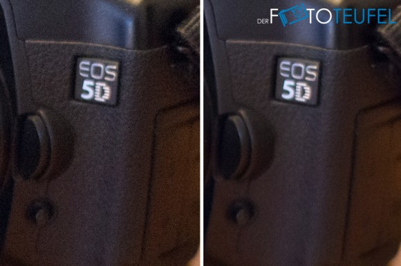 Vergleich ISO 10000 mit und ohne Rauschreduzierung